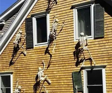 Glow-in-the-Dark Climbing Skeleton Props