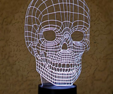 Optical Illusion 3D Skull Light