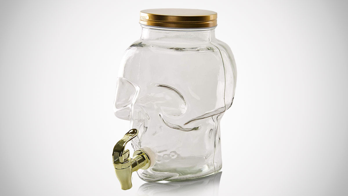 Skull Glass Beverage Dispenser