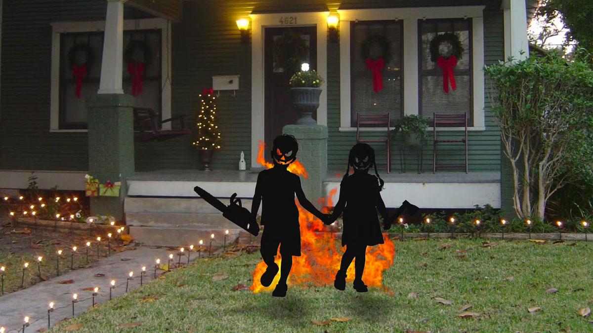 Zombie Kids Halloween Yard Art