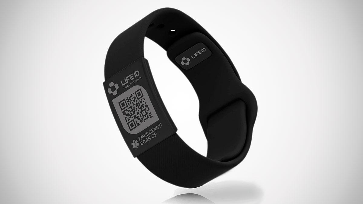 LIFEID Stripe Medical Alert Bracelet