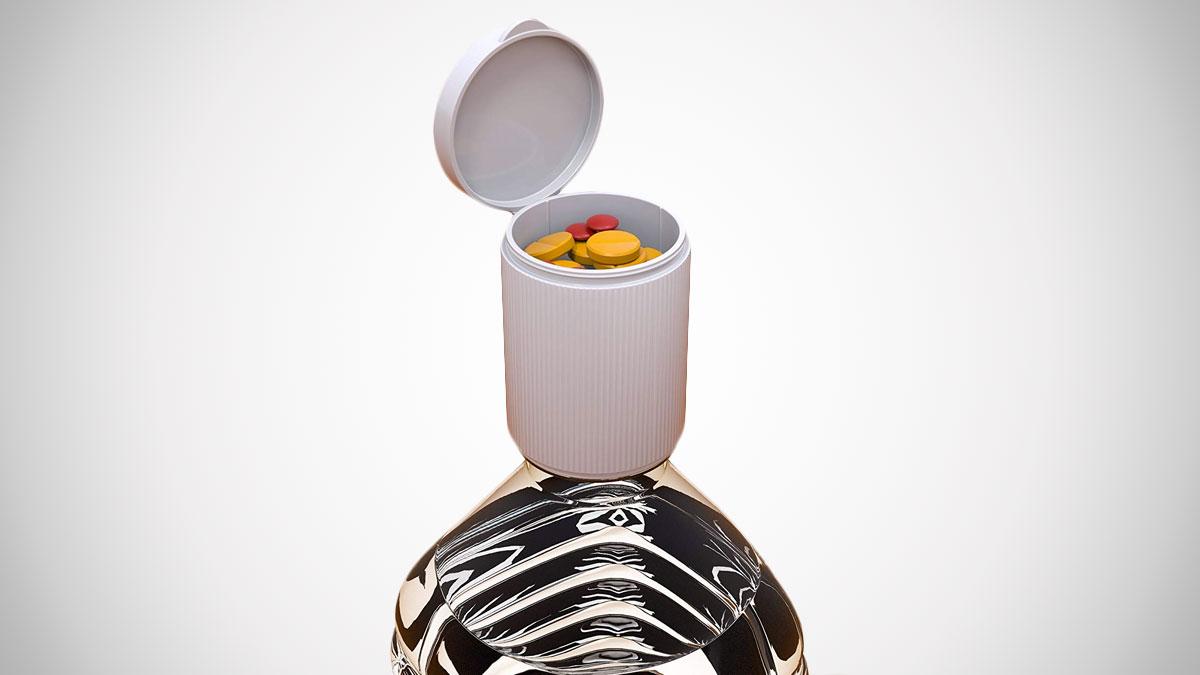 Mr. Stash Cap Bottle Storage Diversion Container