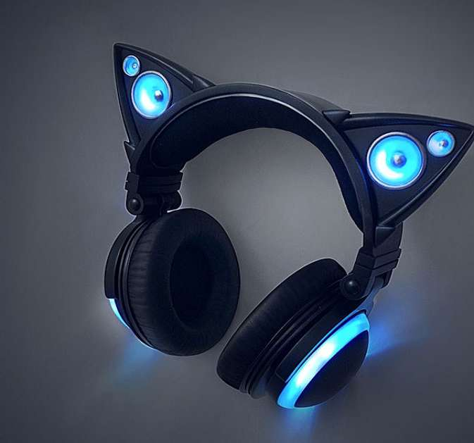 Cat Ear Headphones With Glowing Led Lights Stores
