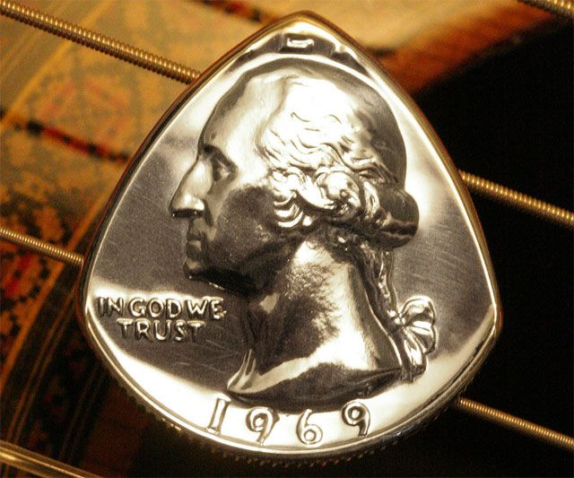 Quarter Guitar Pick