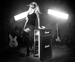 Girl with Marshall Amp Refrigerator