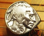 Indian Head Buffalo Nickel Guitar Pick