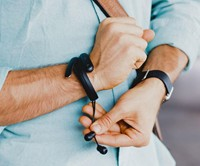 Helix Wrist Cuff with Bluetooth Headphones