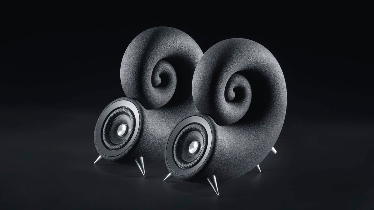 Spirula Speakers - 3D Printed from Sand