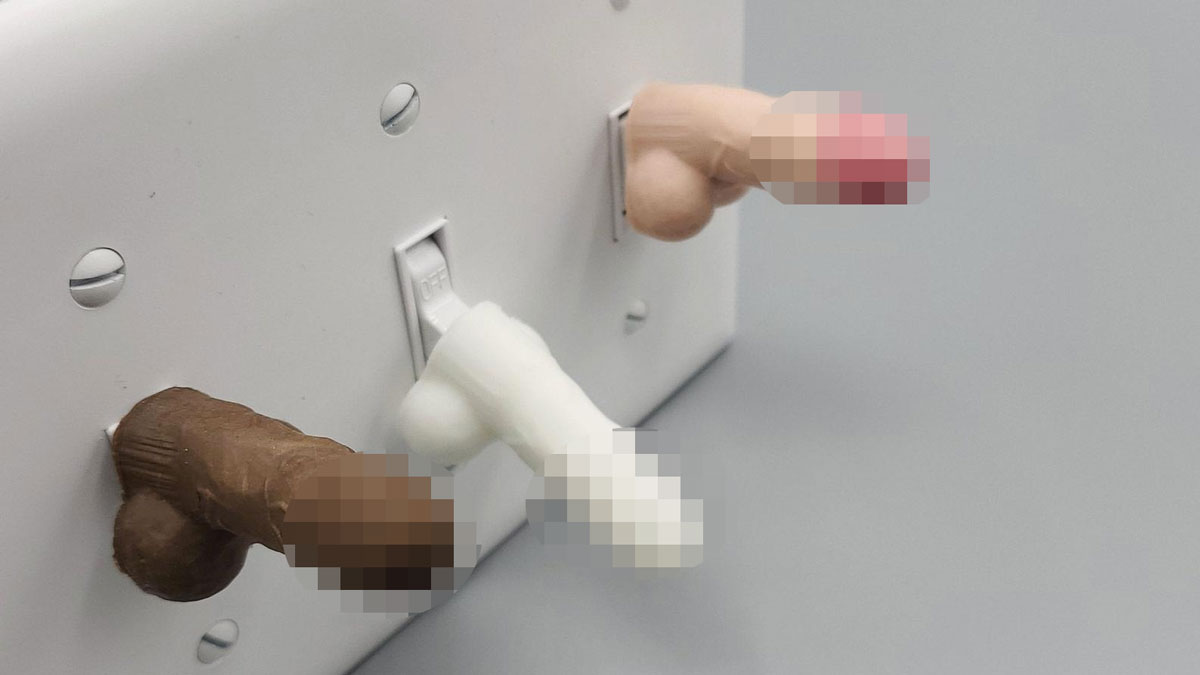 Penis Light Switch Cover