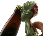 Zombie Bottle Opener - 3/4 Back View