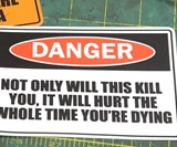 Funny Warning Stickers