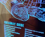Millennium Falcon Schematic Blueprint LED Lamp