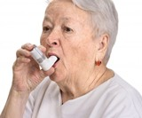 Senior Woman with Asthma Wall Mural