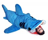 products 67 giant shark pillow chair 196 00 kids shark sleeping bag