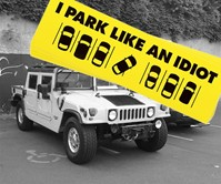 I Park Like an Idiot Stickers