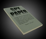 Self-Destructing Spy Paper