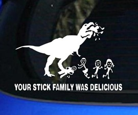 Your Stick Figure Family Was Delicious Decal