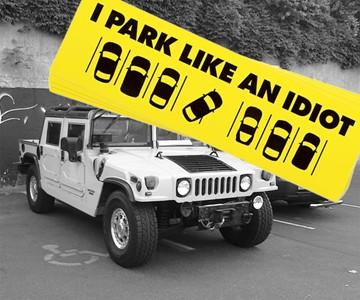 Stop Parking Like An IDIOT Bad Parking Bumper Sticker Decal