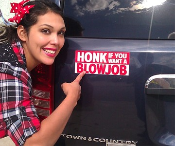 Prank Magnetic Bumper Stickers