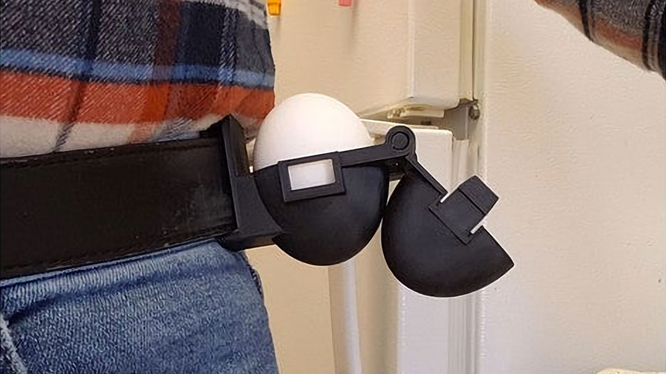 Tactical Belt-Mounted Egg Holster