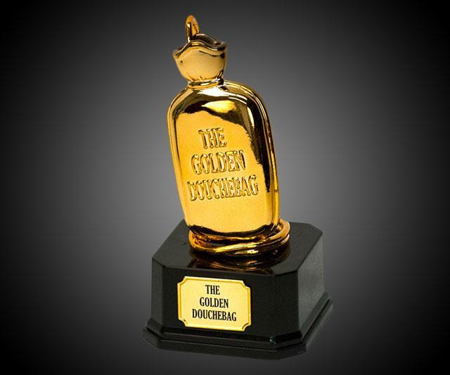 Image result for the golden douchebag trophy