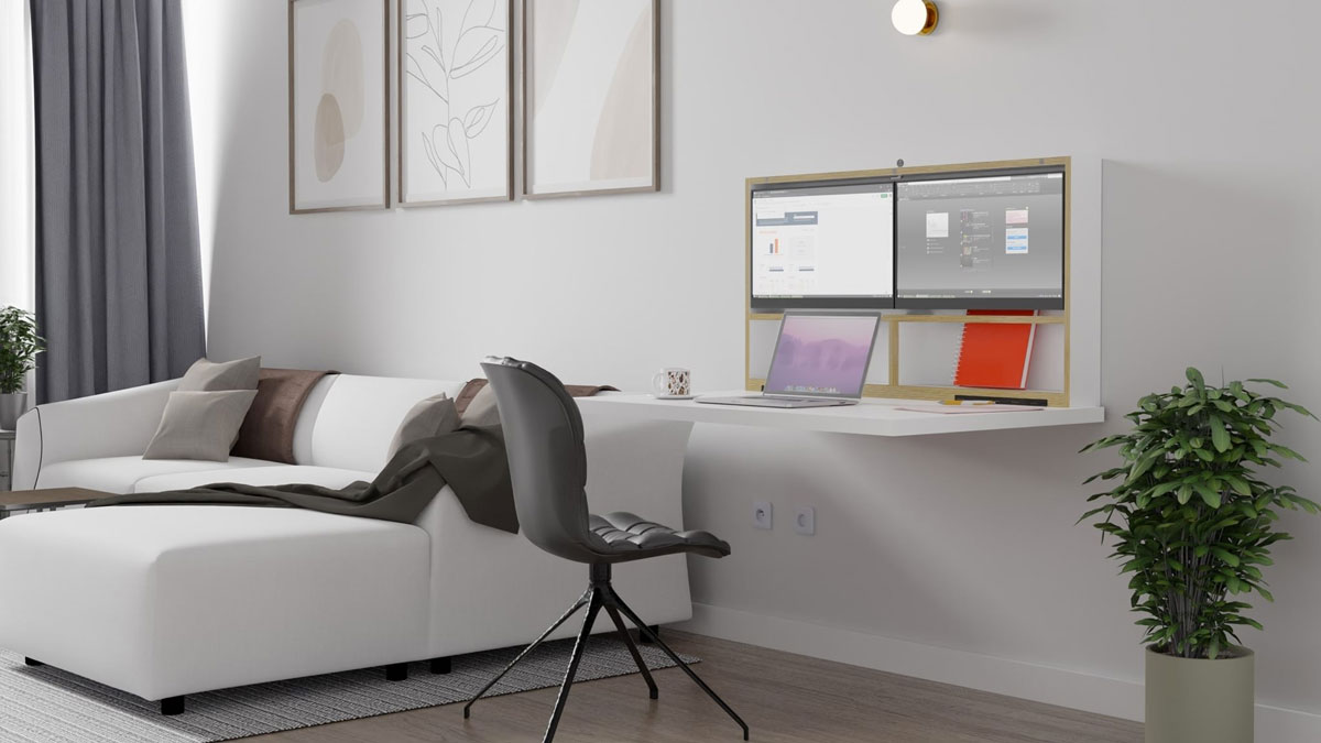 DropTop Plug & Play Wall-Mounted Workstation