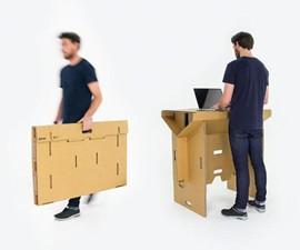 Refold Portable Cardboard Desk