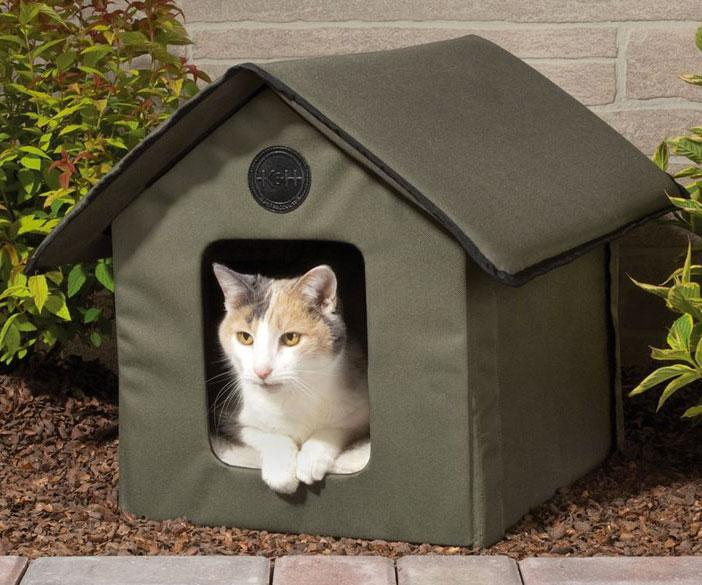 Heated Outdoor Cat House Dudeiwantthat Com