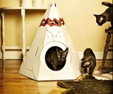 Cardboard Cat Playhouses