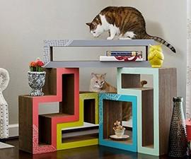 Katris Tetrimino Modular Cat Trees