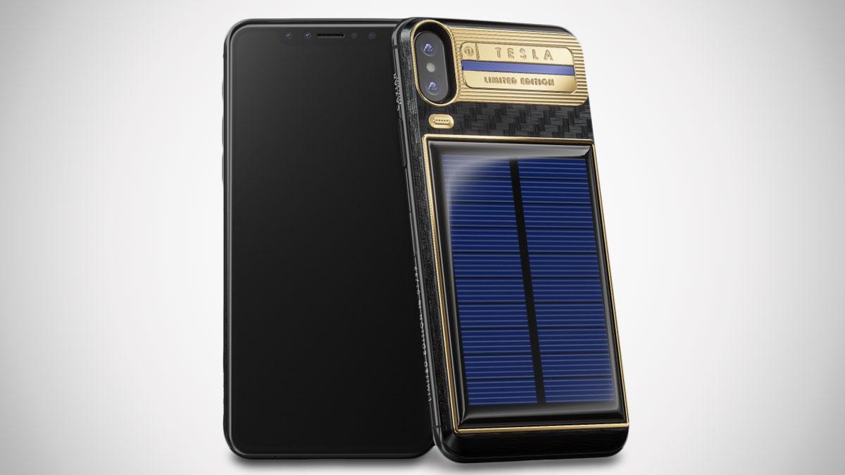 iPhone Xs Tesla - Solar-Powered Phone | DudeIWantThat.com
