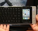 Omnio WOW-KEYS iPhone Dock Keyboard - Scale View