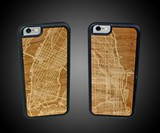 City Map Wooden iPhone Cases