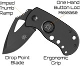 Off-Grid Knives Fat Boy Blackout Utility Knife