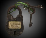Replica Folsom Prison Antique Padlock