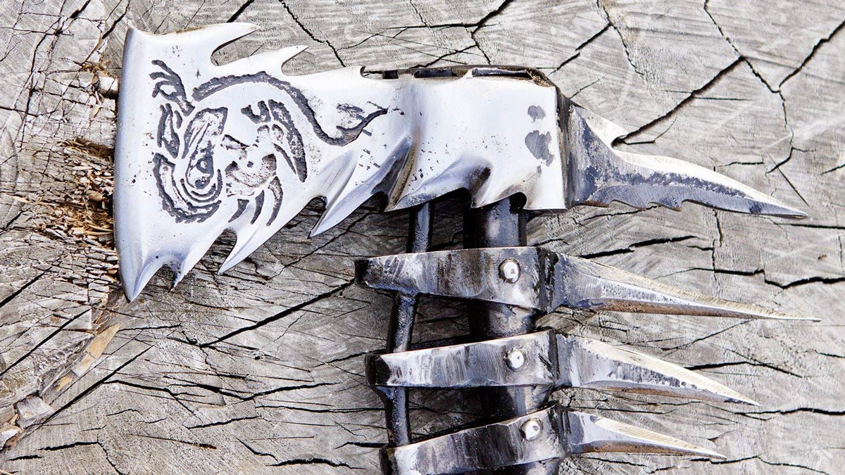 Hand Forged Steel Viking Axe