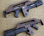 Profile Views of Aliens M41A Pulse Rifle