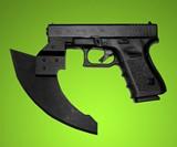 Firearm-Mounted Axe Heads