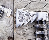 Hand Forged Bearded Steel Viking Axe
