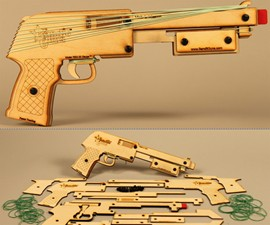 Multi-Action Rubber Band Shotgun