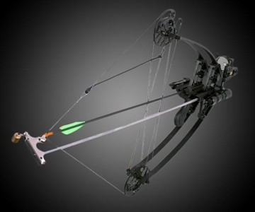 Delta Bow with Draw Holder & Laser Sight