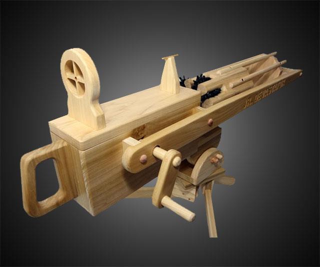 Rubber Band Gatling Gun | DudeIWantThat.com
