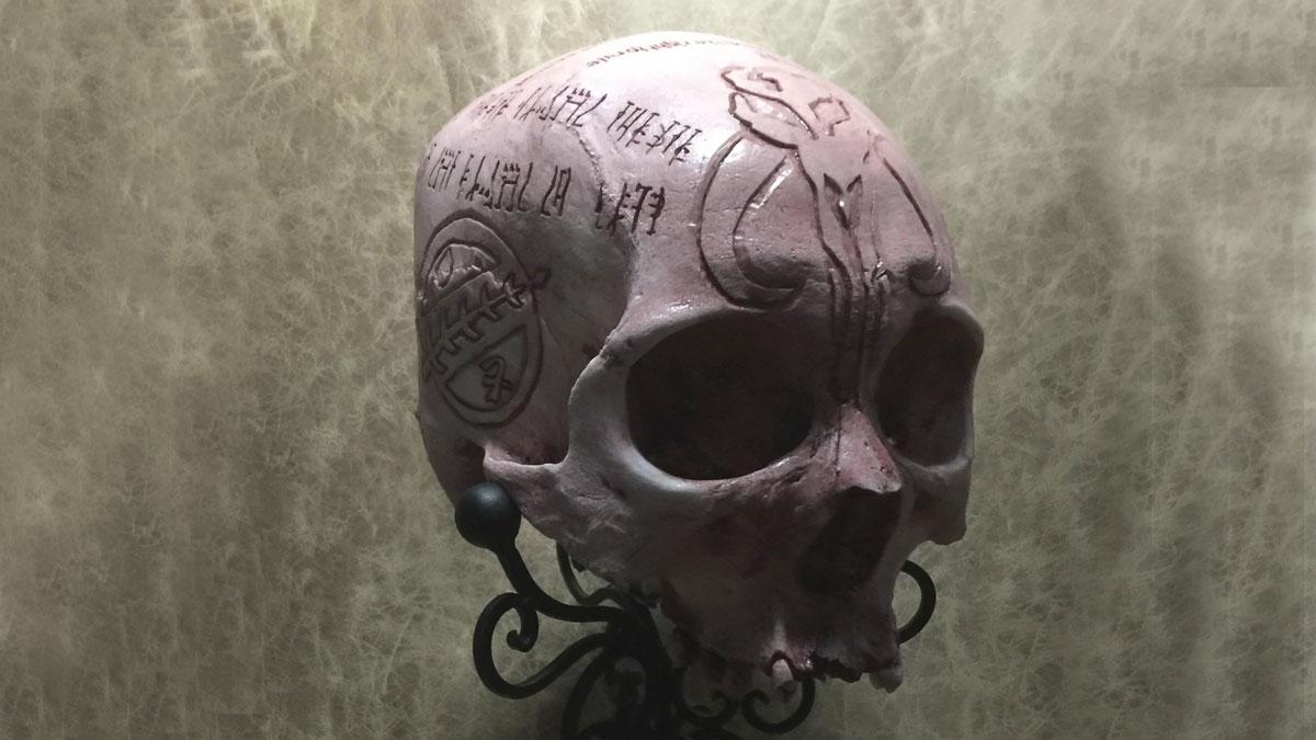 Hand-Carved Mandalorian Oath Skull