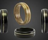 Ebeniste Bentwood Ring