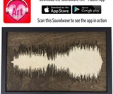 Layered Wood Soundwave Art & Mobile App