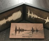 Solid Wood Soundwave Art