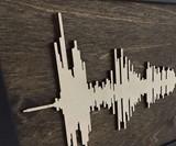 Solid Wood Soundwave Art