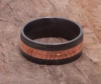 Black Zirconium & Copper Ring