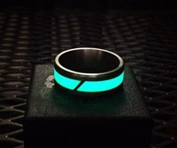 Titanium & Moonglow Ring