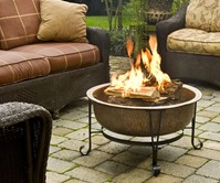Vintage Copper Fire Pit Set
